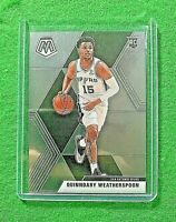 QUINNDARY WEATHERSPOON SILVER CHROME ROOKIE CARD JERSEY#15 SPURS 2019 MOSAIC RC