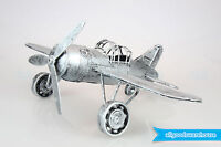 NEW Scrap Metal Art Handmade Nuts & Bolts Vintage Propeller Plane Model Plane