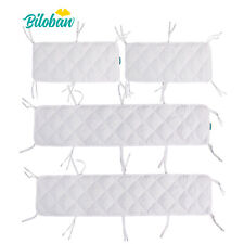 "Baby Crib Bumper Pads for Portable and Mini Cribs 24""x 38"" 4Pcs Cover Breathable"