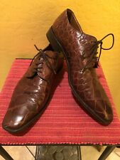 NICE! $895 Zelli Black Genuine Crocodile Alligator Oxford Shoe Loafer Polo