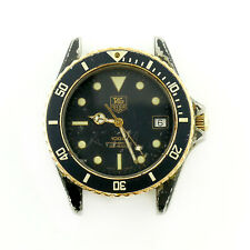 TAG HEUER DIVER 981.113 BLACK DIAL / BLACK PVD S.S. WATCH HEAD FOR PARTS/REPAIRS
