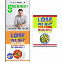 Jamie Oliver 5 ingredients,Slow Cooker Diet and Fast Diet Collection 3 Books Set