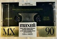 MAXELL MX 90 Type IV Metal Blank Audio Cassette Tape1988 New Factory Sealed