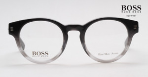 HUGO BOSS 0418 Black Fade E4S Round Plastic Bold  EYEGLASSES Frame 48-21-145 New