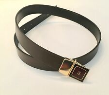 Pierre Cardin Men's Belt reversible leather Brown #1675 12 size 32/80
