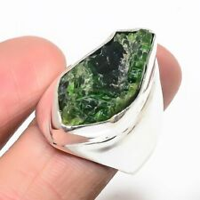 Chrome Diopside Rough - Russia Gemstone Fashion Jewelry Ring 9.75 KR-8461