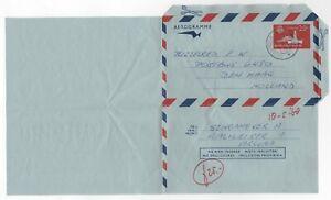 1968 DUTCH ANTILLES Aerogramme Cover ARUBA to DEN HAAG HOLLAND Stationery