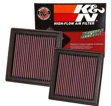 2 x K&N 33-2399 Air Intake Filter 2007-2018 G35 G37 350Z 370Z EX35 G25 Q60 QX50