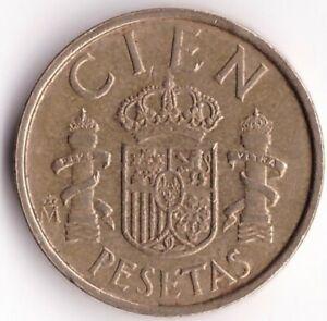 100 Pesetas 1989 Spain Coin KM#826 - King Juan Carlos I