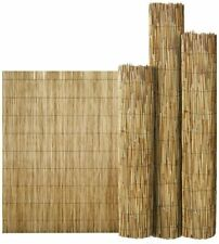 More details for natural peeled reed screening roll garden screen fence fencing panel 1.5m x 4m