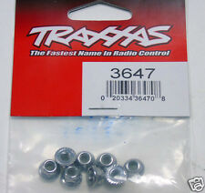 3647 Traxxas R/C Model Car Parts Nuts 4mm Flanged Nylon Locking Steel (8pcs) New