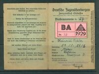 Deutsche Jugendherbergen Bleibenausweis Nr. 27 aus dem Jahr 1929