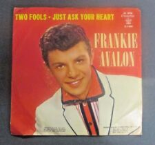 FRANKIE AVALON Two Fools Just Ask Your Heart Chancellor Records 45 RPM