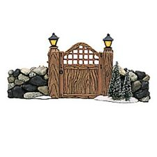 * Dept 56 Snow Village Fieldstone Entry Gate + Fieldstone Stairway - Nib *