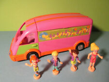 Polly Pocket Mini ♥ Cooler Disco Tour Bus ♥ Popstars on Tour ♥ und 4 Pollys ♥