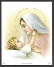"""Catholic Print Picture Blessed Virgin Mary with Holy Child Jesus 8x10"""""""