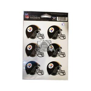 Pittsburgh Steelers 6 Pack Helmet Magnets