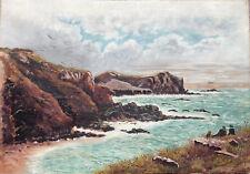 Berwick original oil on Canvas Painting of Seashore / Coast