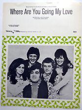 BROTHERHOOD OF MAN Sheet Music WHERE ARE YOU GOING MY LOVE?  60's U.K. POP