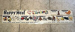 """McDonald's 2000 BEANIE BABIES Happy Meal TY Teenie Sign 8"""" x 36"""" Poster"""