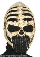 Mens Adult Predator Skull Halloween Fancy Dress Costume Outfit Mask Accessory