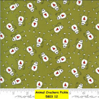 MODA Animal Crackers 100% cotton fabric by the yard Monkey Heart 5803 12 Pickle