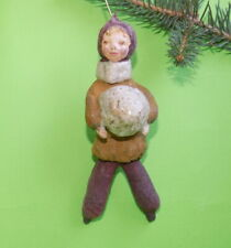 VINTAGE OLD COTTON PRE-WAR CHRISTMAS ORNAMENT DECORATION,USSR  #2010191