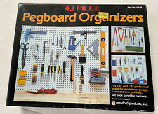 """Pegboard Organizer Assortment 43 Pieces for 1/4"""" or 1/8"""" Boards"""