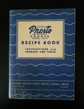 """1945 National PRESTO Cooker (Model """"40"""") Recipe Book ~ Instructions & Cook Times"""