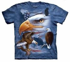 The Mountain 100% Cotton Men's Big & Tall T-Shirt Eagles Free to Fly Tee 4X NWT