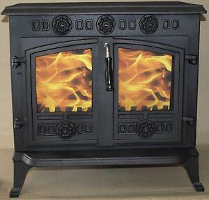 2 x  Glass for JA006 HI006  Wood burning stove (202mmx230mm) foxhunter