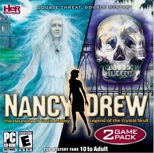 Video Game PC Nancy Drew The Haunting of Castle Malloy Legend of CrystaL Skull
