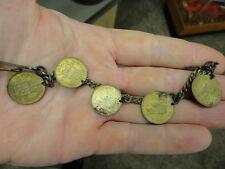WWII Souvenir Sweetheart Coin Bracelet / Vet Find