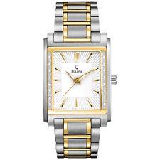 Bulova Men's 98E111 Diamond Case Two Tone Stainless Steel Watch