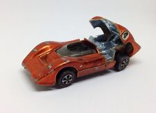 Vintage 1968 REDLINE Hotwheels McLaren M6A Spectra Orange Racer Toy Car