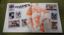 #T90. 1983  WESTERN SUBURBS MAGPIES   RUGBY LEAGUE STICKERS ON ALBUM PAGES