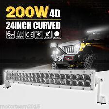 "4D WHITE 24INCH ( 22"" ) 200W CURVED LED LIGHT BAR SPOT FLOOD COMBO OFFRAOD ATV"