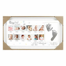Baby Keepsake Hand & Foot Print White 12 Month Photo Frame with Ink Pad FS599