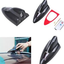 Black Car Shark Fin Roof Antenna Radio Signal Aerials With Solar Warning Light