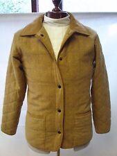 J.O Ladies Quilted Min Length Tweed Jacket Brown  Mustard Size 12