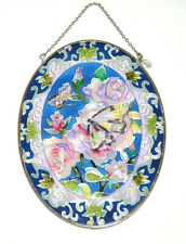 Amia Studios Sun Catcher Butterfly Floral Flowers Stained Glass Suncatcher Chain