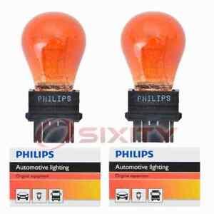 2 pc Philips Front Turn Signal Light Bulbs for Dodge B150 B1500 B250 B2500 mw