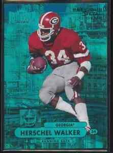 Herschel Walker 2013 Fleer Metal Universe Blue Jersey Number 34/50
