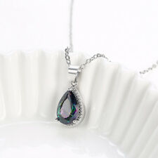Sterling Silver Simulated Emerald 6x4mm Oval Solitaire Necklace