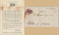 ITALIA REGNO: storia postale - Sassone 34 su CIRCOLARE tema SETA SILK - MILANO