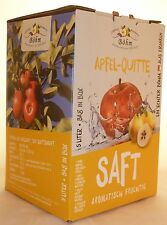 Apfel Quittensaft naturtrüb, 4x5 Liter Bag in Box, 100% Direktsaft ,1,70 €/lt