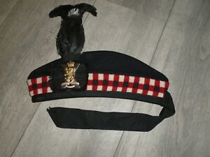 ROYAL REGIMENT OF SCOTLAND GLENGARRY WITH FEATHER AND BADGE SIZE 57CM