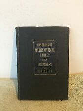Handbook of Mathematical Tables and Formulas, Burlington (1943) SB