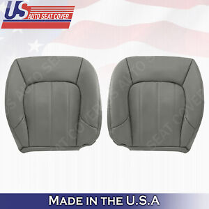 2002 to 2009 GMC ENVOY SLT XL DRIVER & PASSENGER BOTTOM LEATHER SEAT COVERS GRAY