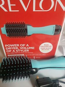 Revlon One Step Hair Dryer Volumizer Brush Professional Home Styling, Mint